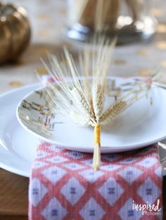 DIY Color Wrapped Wheat - Simple DIY for your Thanksgiving Table