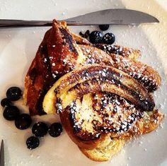 Nutella French toast recipe. Holy yum.