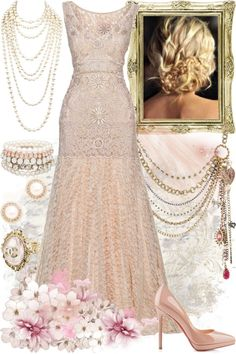 """Pink & Pearls"" by msjackiedaniels ❤ liked on Polyvore"