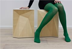 SETI: search . explore . transmit . inspire » Faceted inside/outside stools by Studio Vision