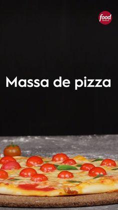 Massa de pizza is part of pizza - pizza Tasty Videos, Food Videos, Pizza Recipes, Cooking Recipes, Healthy Recipes, Food Porn, Good Food, Yummy Food, Foodblogger