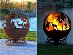 Magnificent Fire Pits with a Forest View!!