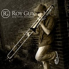 Senior Portraits for boys. Senior Photography boys. Senior portrait posing ideas for boys. Props. Musical instruments.