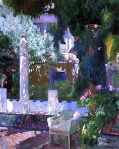 Joaquín Sorolla y Bastida (Spanish, 1863-1923)  Rose Bush at the Sorolla House