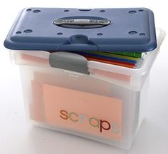 Scraps Storage - To keep your colorful scraps in order, purchase colored dividers so everything is sorted by hue. Store in a file box for easy portability. Simple stickers label the box for an added touch of fun.