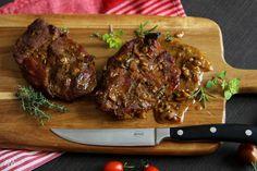 V kuchyni vždy otevřeno ...: Krkovice na medu a hořčici Graham Crackers, Grilling, Pork, Food And Drink, Menu, Recipes, Kale Stir Fry, Menu Board Design, Crickets