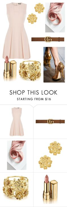 """"" by juliapoldervaart ❤ liked on Polyvore featuring Alexander McQueen, Gucci, Lime Crime, London Road, Oscar de la Renta and Dolce&Gabbana"