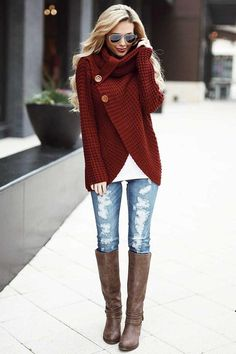Best Fall Fashion grunge look inspiratiom / boots + rips + top + black denim jacket - Fashion Fall Fashion Outfits, Casual Winter Outfits, Fall Fashion Trends, Mode Outfits, Teen Fashion, Stylish Outfits, Winter Fashion, Womens Fashion, Fall Fashion Women