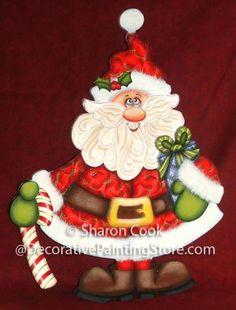 The Decorative Painting Store: Paisley Print Santa Pattern, Newly Added Painting Patterns / e-Patterns