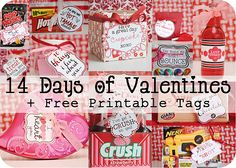 14 Days of Valentines + Free printable tags