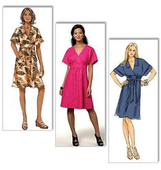 Butterick dress sewing pattern. I like the blue one