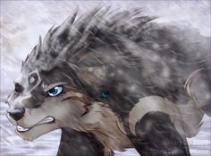 Wolf Link (awesome) fan art from Legend of Zelda: Twilight Princess.