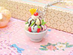 Ice Cream Sundae Necklace by Sweetystuff