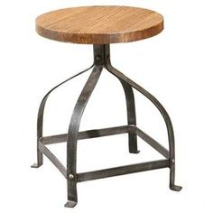 "Offer guests an extra seat with this eye-catching essential, a welcome addition to your well-appointed home.   Product: StoolConstruction Material: Fir, wood and steelColor: Black and naturalFeatures:  Eco-friendlyAdjustable height up to 30"" H Dimensions: 20"" H x 15.75"" Diameter"