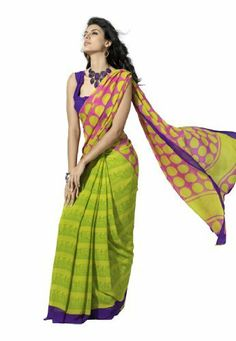 Branded Indian Women Saree Designer Wear Printed Green & Pink by Fabdeal, http://www.amazon.ca/dp/B00GMJGORG/ref=cm_sw_r_pi_dp_fvOptb105QFRC