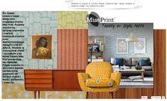 angielskie tapety Miss Print świetnie czują się w towarzystwie mebli i dodatków z epoki lat 50tych, zobaczcie!