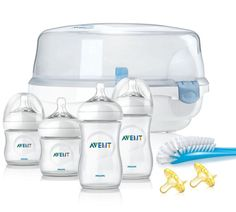 New Philips Avent BPA Free Natural Essentials  Feeding Bottles Gift Set  #Avent