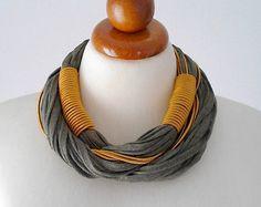 Collar verde oro verde joyería verde collar collar verde oliva negrita collar collar grueso collar fornido audaz declaración