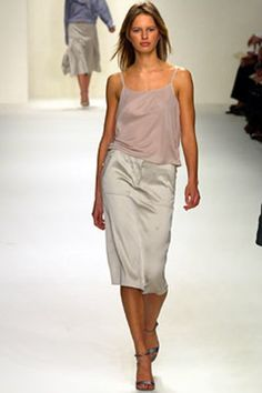 Calvin Klein: Calvin Klein's Spring 2003 line    Citation: Calvin Klein Collection Spring 2003 Ready-to-Wear Fashion Show. (2002, September 18). Retrieved April 02, 2017, from http://www.vogue.com/fashion-shows/spring-2003-ready-to-wear/calvin-klein-collection/slideshow/collection#3