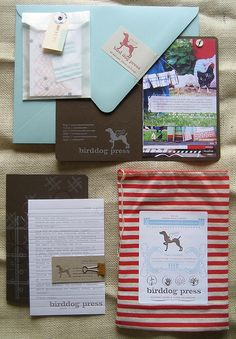 BirdDog Press Feedsack Media Kit: Love this! And our dog could've easily been the model for that logo.