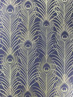 BuyMatthew Williamson Peacock Wallpaper, Dark Violet / Antique Gold, W6541-03 Online at johnlewis.com