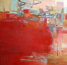 Leslie Allen Hula Hoops an abstract oil painting showing at Seager Gray Gallery located in Mill Valley California San Francisco Bay Area