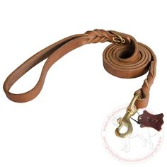 Cnae Corso #Leather #Dog #Leash with Gentle Handle 39.90 | all-about-cane-corso-dog-breed.com