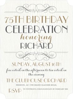 75th birthday invitations 50 gorgeous 75th party invites party 75th birthday invitations 50 gorgeous 75th party invites filmwisefo