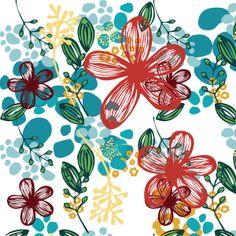 Floral (teal) by Natalie Baca