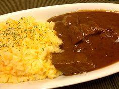 ご飯はショウガ風味のニンジンライス♪(´ε` ) - 16件のもぐもぐ - ビーフカレー by Lapia