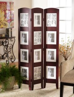 Display all her favorite memories! Cherry Photo Screen, 3 Panel | Kirklands