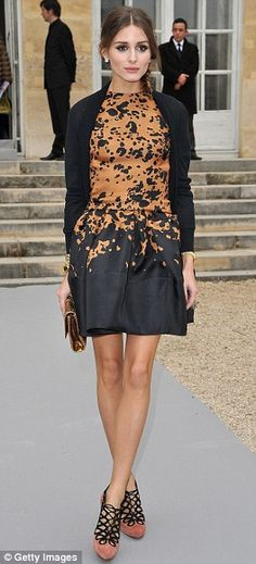 At Paris Fashion Week...love this dress. Not feeling the shoes though.