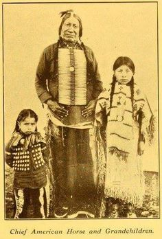Chief American Horse with his grandchildren