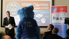 Mates Helping Mates, Bluey our Global Care Aus, and NOW Mascot heads to the front to draw our winner for the Share to Win competition