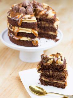 Objetivo: Cupcake Perfecto.: Tarta de Snickers (o cómo rectificar un mal regreso de vacaciones)