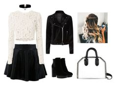 """""""Black and White"""" by maida-jahic-1 ❤ liked on Polyvore featuring A.L.C., Hogan, Paige Denim and STELLA McCARTNEY"""