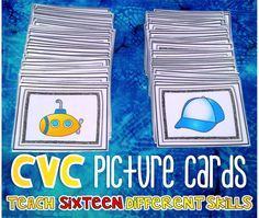CVC Picture Cards will help teach a variety of phonemic awareness skills.