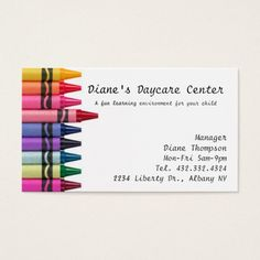 244 best childcare business cards images on pinterest business daycare childcare business card colourmoves