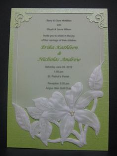 Casablanca lily invitation