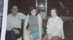 My mom and dad and me taken in the summer of 1970 before my sophomore year of high school.  I would have been almost 15 years old.