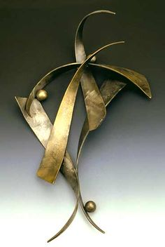 Forged Wall Piece by Robert L. Crecelius: Metal Wall Sculpture available at www.artfulhome.com