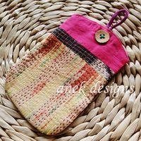 Silk Kantha Mobile Pouch