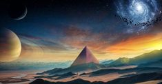 Downaload Planet, fantasy, pyramids, space, landscape wallpaper for screen Sci Fi Wallpaper, Planets Wallpaper, Full Hd Wallpaper, Wallpaper Earth, Laptop Wallpaper, Hd Wallpapers For Pc, Space Backgrounds, Alien Art, Landscape Wallpaper
