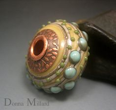 HANDMADE LAMPWORK Focal Bead Donna Millard SRA by DonnaMillard - I love her beads all of them.