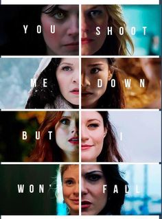 The women of Once Upon a Time -- Ruby, Emma, Snow White, Mulan, Ariel, Belle, Tinker Bell, Regina