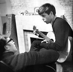 """onlymeflavs:  Paul & John working on """"I saw her Standing there"""" Liverpool 1962"""