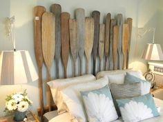 oar headboard. cute for a boys room.