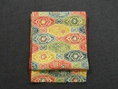 Obi #294587 Kimono Flea Market Ichiroya  For some reason, the design reminds me of money from around the world...