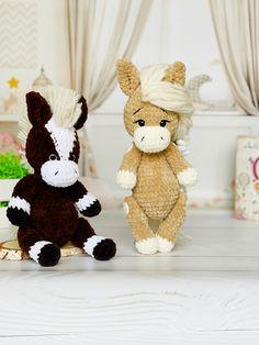 Crochet Pony, Crochet Horse, Cute Crochet, Crochet For Kids, Crochet Ideas, Newborn Crochet Patterns, Crochet Patterns Amigurumi, Knitting Patterns, Horse Pattern
