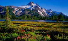Mt. Jefferson in the Central Oregon Cascade Range photo by Mike Putnam